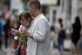 Mask up Friday, shoppers anxiously checking receipt, masks in the street, Stratford Upon Avon - John Harris - 24-07-2020