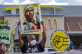 Detroit, USA, McDonald's SEIU union workers protest for $15 an hour during the nationwide Strike for Black Lives - Jim West - 20-07-2020