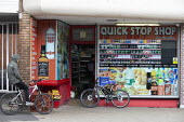 Youth on bikes buying alcahol, Quick Stop Shop, Stratford Upon Avon - John Harris - 29-07-2020