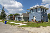 Detroit, USA, Tiny Homes for the homeless built by Cass Community Social Services. The nonprofit plans to eventually build a community of 25 purpose built homes, which formerly homeless and other low... - Jim West - 09-08-2020