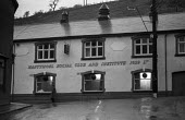 Nantymoel Social Club and Institute 1929 Ltd. 1972 miners strike, pit village, Ogmore Valley, South Wales - Martin Mayer - 15-01-1972