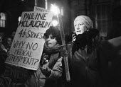 Vigil for Republican hunger striker Pauline McLaughlin, 1980, Downing Street, London. Three republican women prisoners in Armagh Jail joined the hunger strike for political status, McLaughlin weight d... - Martin Mayer - 14-11-1980