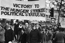 Protest for IRA hunger strikers London 1980 calling for political prisoner status - Martin Mayer - 07-12-1980