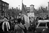 Protest against force feeding of Irish hunger strikers 1974 outside Wormwood Scrubs prison, West London - Martin Mayer - 19-01-1974
