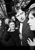 George Davis is Innocent OK campaign 1976 George arriving at Waterloo Station, London, having been freed from prison. Rose his wife (R). He became known through a successful campaign by friends and su... - Martin Mayer - 11-05-1976