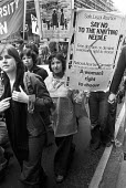 NAC protest against Anti Abortion bill 1977, London opposing the proposed bill by Conservative Party MP William Benyon to restrict abortion rights for women. Organised by the National Abortion Campaig... - Martin Mayer - 14-05-1977