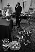 Sotheby's auction sale, Mentmore Towers 1977 Silverware all ready for the sale of the contents of the stately home belonging to the 7th Earl of Rosebery, Buckinghamshire. Mentmore was sold to the Maha... - Martin Mayer - 18-05-1977