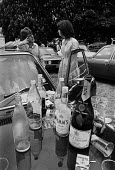 Eton College, Berkshire, 1977 Pimms, Moet and Marlborough, the essential ingredients for a perfect 4th June celebration to mark the birthday of King George III - Martin Mayer - 04-06-1977