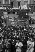 Bangladesh rally 1971 for the release of Sheikh Mujib from prison and for independence. Trafalgar Square, London. He was imprisoned by the ruling miltary junta in Pakistan. Banners of the Bangadesh Ac... - Martin Mayer - 01-08-1971