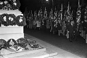 National Front parade, Remembrance Day 1976, at The Cenotaph, Whitehall, London - NLA - 14-11-1976