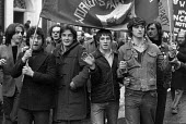 WRP members, TUC protest against unemployment 1975 London - NLA - 26-11-1975