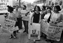 Anti Apartheid protest 1985 against the Langa massacre, South African Embassy London - NLA - 22-07-1985