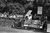 Protest against the USA trade ban on Nicaragua, 1985, US Emabassy, London - NLA - 03-07-1985