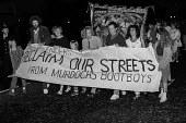 Reclaim Our Streets Wapping 1986 Protest by local East End residents at police operations to protect the new News International print works, Wapping, London, after mass sacking of printworkers and jou... - NLA - 12-08-1986