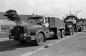 BNFL Transporting nuclear materials Windscale, 1977, Cumbria, in reinforced containers to and from the nuclear facilities. - NLA - 30-10-1977