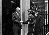 Prince Charles visiting James Callaghan, Number Ten Downing Street, Whitehall, London 1979 - NLA - 13-02-1979