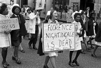 Nurses protest for fair pay, London 1974 Florence Nightingale Is Dead - NLA - 05-06-1974