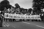 Protest against British rule in Northern Ireland 1971, London, during the hunger strikes - NLA - 08-08-1971