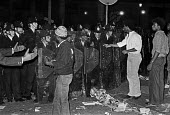 Notting Hill Carnival London 1985, Police with riot shields confronting young black people - NLA - 31-07-1985