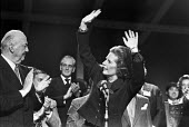 Margaret Thatcher waving to applause, 1979 Conservative Party Conference Blackpool, Lord Thorneycroft (L) - NLA - 11-10-1979