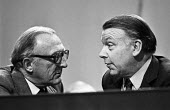 Lord Carrington and Francis Pym talking 1980 Conservative Party Conference, Brighton - NLA - 10-10-1980