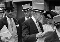 Royal Ascot races 1979 men in top hats and morning dress and women in hats arriving at Ascot racecourse, Berkshire - NLA - 19-06-1979