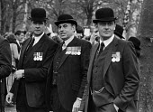 Old cavalry officers parade; 'Old Comrades' from the Cavalry regiment meet after their annual parade through Hyde Park - Martin Mayer - 14-05-1973