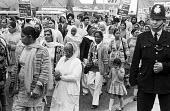 March through Southall, West London, 1976 a week after the racist murder of Gurdip Singh Chaggar outside a local cinema. - Peter Arkell - 12-06-1976