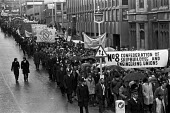 TUC protest against unemployment Central London 1975 - Peter Arkell - 26-11-1975