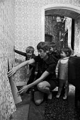 Damp slum home, Albert Family Dwellings, 1972, Spitalfields, East London - Peter Arkell - 16-09-1972
