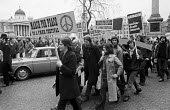 CND march from London to Aldermaston 1972 against nuclear weapons and the cold war, Trafalgar Square, London - Peter Arkell - 01-04-1972