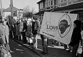 Peter Hain, Anti-Apartheid protest 1974, England vs Australia Rugby match, Twickenham ground, West London calling on the Rugby authorities to cancel the planned Lions Rugby Union team tour of South Af... - Peter Arkell - 16-03-1974