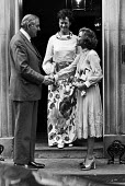 Jim Callaghan meeting Ashraf Pahlavi 1976 the twin sister of Mohammad Reza Pahlavi, the last Shah of Iran, 10 Downing Street, London. Audrey Callaghan (C) - Peter Arkell - 11-06-1976