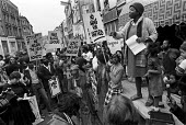Protest in support of the Soweto Uprising, 1976, Ladbroke Grove, West London.No Arms For Apartheid. The Uprising in the South African township started when students from numerous Sowetan schools began... - Peter Arkell - 10-10-1976