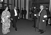 Denis and Healey Edna arriving Lord Mayor's Dinner, 1976, Guildhall, City of London. Lord Mayor's dinner to the bankers and merchants of the City of London - Peter Arkell - 21-10-1976