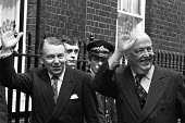 Francis Pym (L) and Lord Thorneycroft 1979 arriving 10 Downing Street, London, after the Conservative Party victory in the general election - Peter Arkell - 08-05-1979