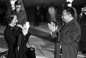 Margaret Thatcher greeting Hua Guofeng, Chinese Premier, Heathrow Airport 1979 - Peter Arkell - 28-10-1979