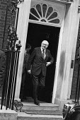 Jim Callaghan leaving 10 Downing St, London, 1979 to dissolve parliament after he lost a vote of no confidence by one vote a few days earlier. - Peter Arkell - 06-04-1979