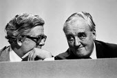 Geoffrey Howe (L) Willie Whitelaw 1982 Conservative Party Conference, Brighton - Peter Arkell - 07-10-1982