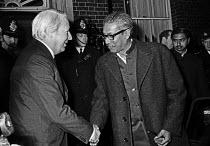 Sheikh Mujub meeting Edward Heath 1972, 10 Downing Street, London, Sheikh Mujibur Rahman was known as Father of the Nation in Bangladesh - Peter Arkell - 08-01-1972