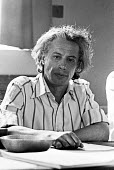 Viktor Fainberg London 1975, Soviet dissident, Campaign Against Psychiatric Abuse in the USSR,. Press conference in London soon after his release from the USSR. He was arrested after demonstrating aga... - Peter Arkell - 03-07-1975