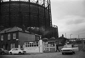 East Greenwich Gas Work, London 1972. The last gas works to be built in London, the plant was adapted to produce gas from oil in the 1960s. The gas holder is the largest in England. South Eastern Gas... - Peter Arkell - 28-12-1972