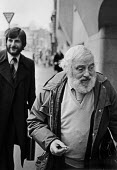 Tom Keating, art forger, 1979 The Old Bailey, London, with his lawyer - Ray Rising - 15-01-1979