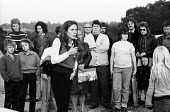 Helene Middlweek canvassing 1974 General Election campaign. Labour Party candidate for Welywn & Hatfield constituency. Later known as Helene Hayman. - Chris Davies - 28-09-1974