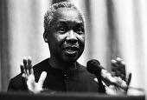 President Julius Nyerere of Tanzania speaking 1975 Royal Commonwealth Society meeting London - Chris Davies - 22-11-1975