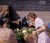 Peasants selling fresh produce on the street in Warsaw in Communist led Poland 1973 - John Sturrock - 11-07-1973