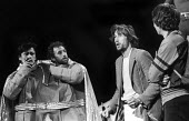 The Hitchhiker's Guide To The Galaxy by Douglas Adams 1979 ICA Theatre London. The first ever staged production of directed by Ken Campbell. L to R Mitch Davies and Stephen Williams as Zaphod Beeblebr... - Nick Oakes - 03-05-1979
