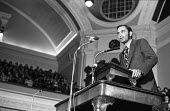 Paul Ralph Ehrlich speaking Central Hall Westminster London 1972. An American biologist best known for warnings about the consequences of population growth and limited resources and author of The Popu... - Patrick Eagar - 15-01-1972