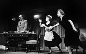The Fire Raisers by Max Frisch Royal Court Theatre, London 1961. Directed and produced by Lindsay Anderson, Alfred Marks and Dora Hare - Romano Cagnoni - 20-12-1961