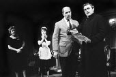 The Fire Raisers by Max Frisch Royal Court Theatre, London 1961. Directed and produced by Lindsay Anderson, Dora Hare, Alfred Marks and John Thaw - Romano Cagnoni - 20-12-1961